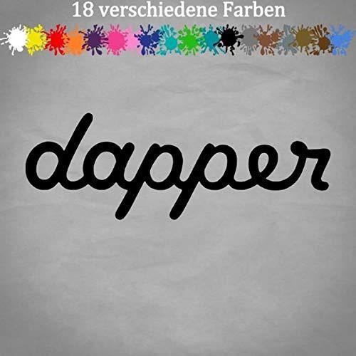 dapper Sticker 20x7cm Auto Kleber Szene Sticker Decal JDM Shocker in 18 Farben 70-Schwarz