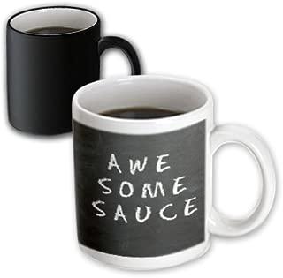 3dRose 178668_3 Awesome Sauce Magic Transforming Mug, 11 oz, Black/White