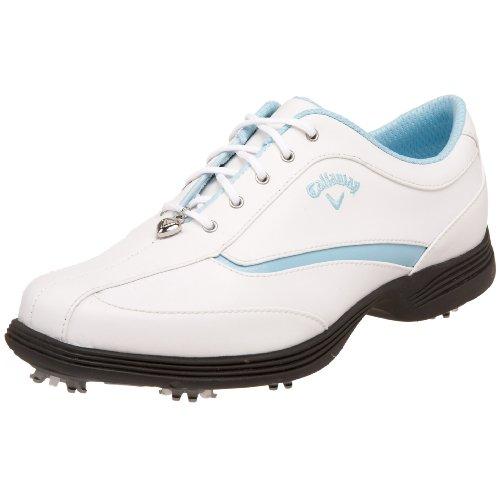 Callaway Women's Charm Golf Shoe,White/Baby Blue,5.5 M US