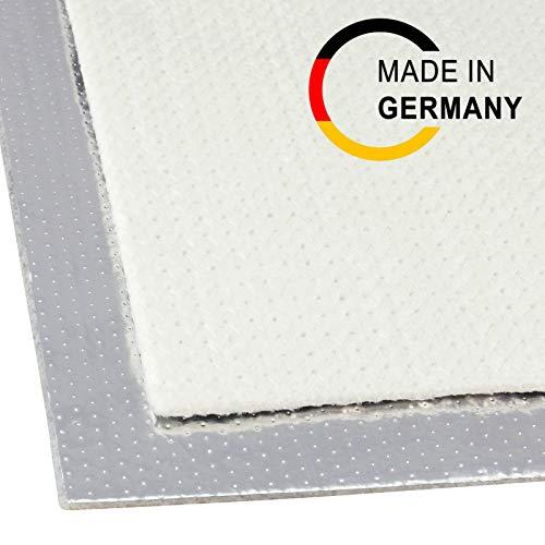100x100cm Alu-Fiberglas Hitzeschutzmatte selbstklebend Isoliermatte Hitzeschutzfolie | 5mm