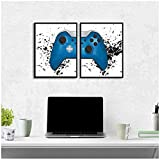 BD-Boombdl Game Boy Wall Art Canvas Painting Picture Game Minimalism Art Poster Print Imagen de Pared Game Room Decoración 50X60 Cm X2 Sin Marco