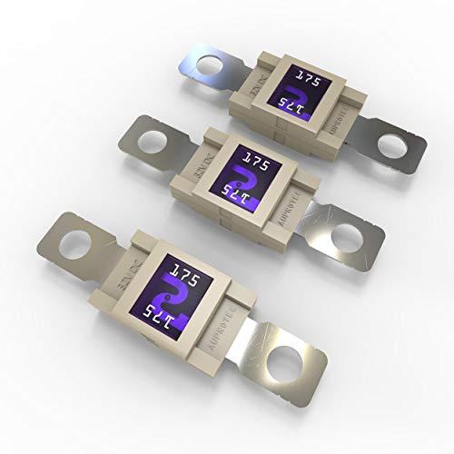 AUPROTEC Mega Hochstromsicherung Schraubsicherung 80A - 500A Auswahl: 175A Ampere weiß, 3 Stück