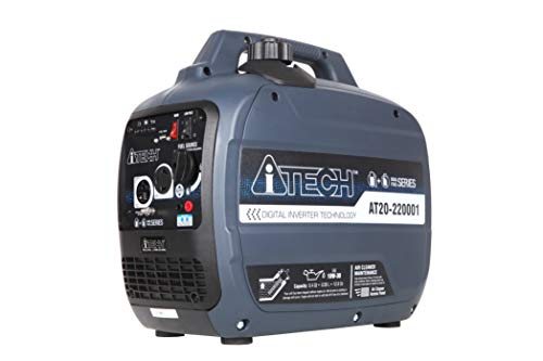 A-ITECH AT20-220001 2000 Watt Portable Inverter Generator Gas & Propane Powered Lightweight Small with Super Quiet Operation for Home or Camping, RV Ready