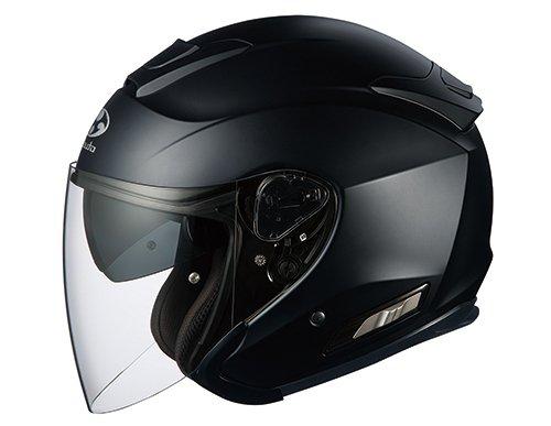 オージーケーカブト(OGK KABUTO)バイクヘルメット ジェット ASAGI フラットブラック M (頭囲 57cm~58cm)
