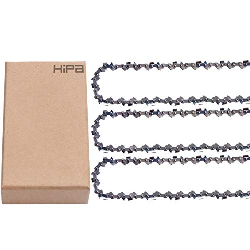 "3Pack 10"" Pole Saw Chain Compatible with Harbor Fregitht 68862 63190 62896 Remington RM4050 RM4050B Sun Joe SWJ800E SWJ802E SWJ806E Earthwise CCS30008 CPS40108 CVP41810 LPS40208 LPS4210 91PXL033G"