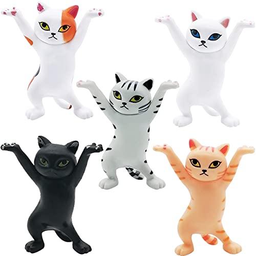 Mini Juego de Figuras Decoración para Tartas Tomicy 5pcs Gato Caricatura Cake Topper Mini Juguetes Baby Shower Fiesta de cumpleaños Pastel Decoración Suministros para Adorno de Torta
