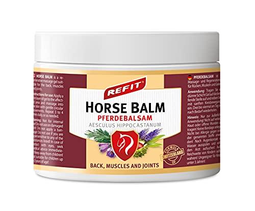 REFIT Pferdebalsam 500 ml XXL   Extra stark Schmerzgel   Sofortiger Effekt   Kräutersalbe aus weltberühmtes Karlsbad Spa   natürliche