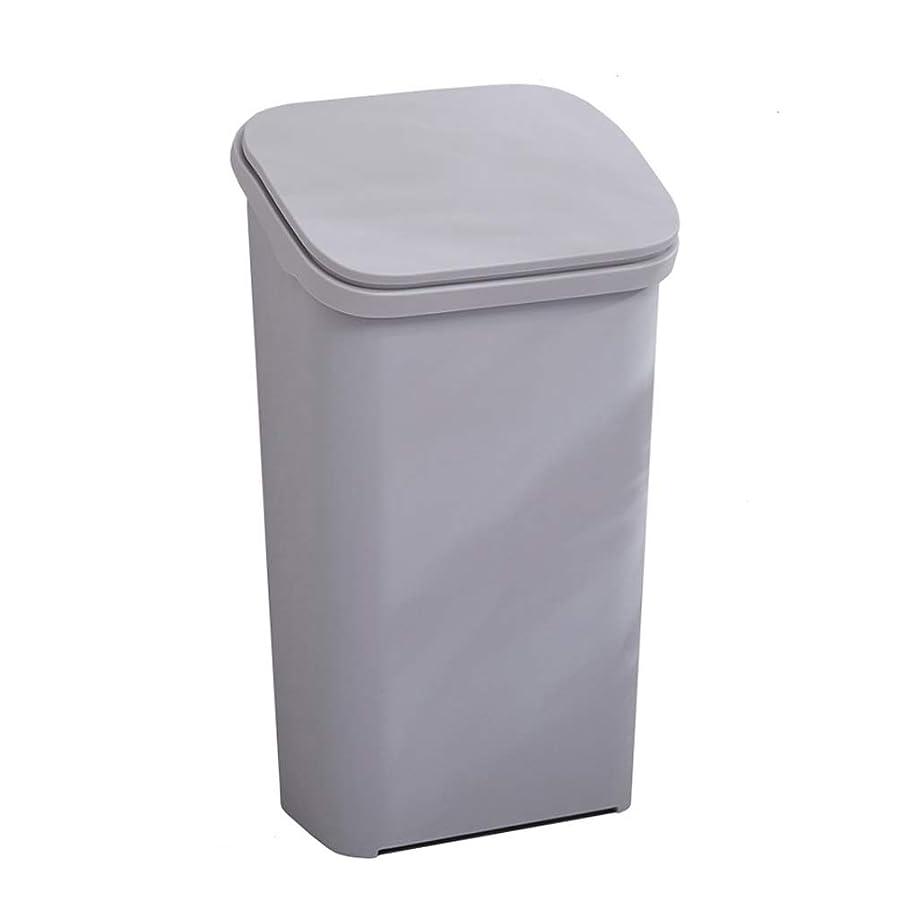 故意に元の海洋IUYWLごみ箱 プラスチック弾丸タイプのゴミ箱は、蓋付きリサイクルボックス30×23.5×54×45×15.5×25cmの家庭用キッチンリビングルームのオフィスにすることができます。 IUYWLごみ箱 (Color : Gray)