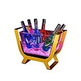 barril de vino de madera Cubo De Hielo De Luz LED, Barril De Champán De Gran Capacidad Para Cubos De Hielo De Fiesta De Barra, Cubeta De Enfriamiento De Acrílico Transparente ( Color : Ice bucket*2 )