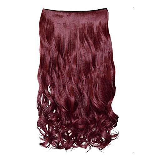KeKeandYaoYao Lange Krullend Haarstukje 5 Clips Hittebestendige Synthetische Golvend Haar Pruik Nep Haarstukken Natuurlijke Valse Haar Stukken Vrouwen Haar