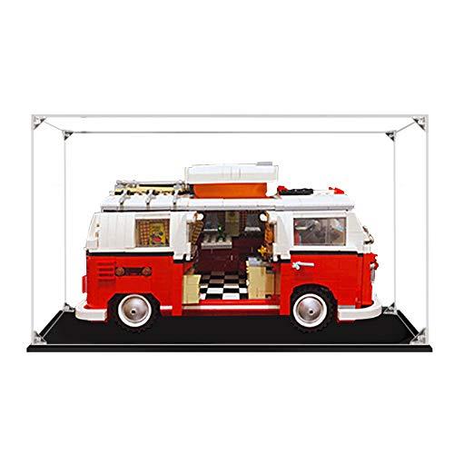 icuanuty Vetrina in Acrilico per Lego 10220 Volkswagen T1 Camper Van, Vetrina Antipolvere per Modellismo Collezionismo (Solo Vetrina) (2mm)