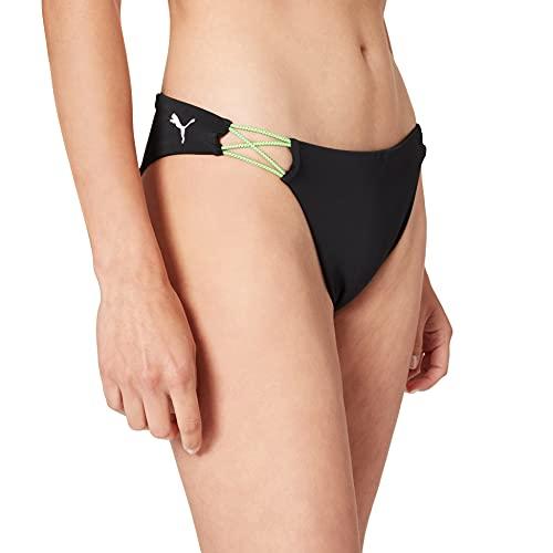 PUMA Swim Women's Brazilian Brief Parte Inferiore Bikini, Nero (Black Combo), M Donna