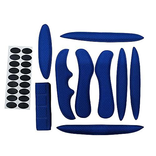 Yaootely Casco de ProteccióN Acolchado de Esponja Sellada Casco de Bicicleta de Almohadillas Interiores Almohadillas Azules para Casco de Ciclismo