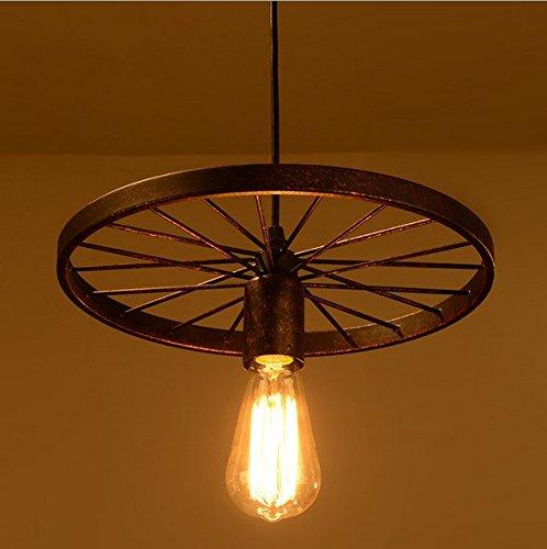 E27 Creativo Lampadario Soffitto Illuminazione a Sospensione Industriale Metallo Sospensione Gabbia Retrò Lampada a Sospensione