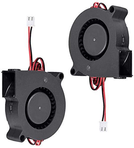 Furiga Ventilador de impresora 3D 24V 5015 Ventilador 50X50X15mm Ventilador de ventilador Cable de 1M para extrusora Disipador de calor 2PCS