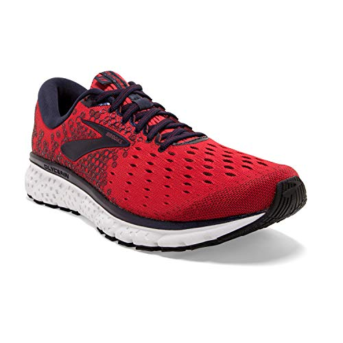 Brooks Mens Glycerin 17 Running Shoe - Red/Biking Red/Peacoat - D - 10.0