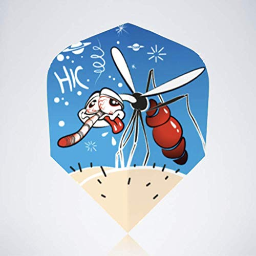myDartpfeil Blaue Standard Dart Flights | MOSKITO aus Kunststoff | 3er Flight Set | Dartpfeil Flyer