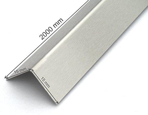 EXCOLO Edelstahl-Winkel 15x15 2000mm...