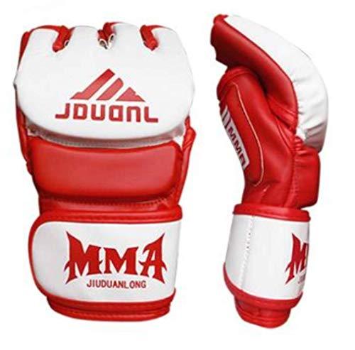 Boxhandschuhe Boxsack Fighting MMA Gloves 1Pair Adult Halbfinger Boxhandschuhe Sandsackhandschuhe Handschuhe Guantes Sanda Training Freie Größe