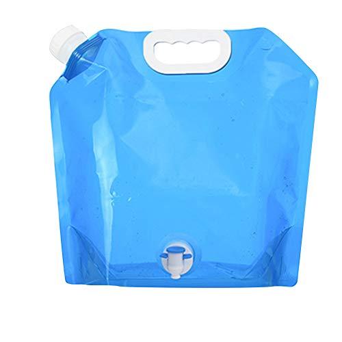 DHYED Bolsa de agua potable plegable de 5 l/10 l, con gran capacidad para camping, senderismo, picnic, viajes, barbacoas, deportes al aire libre