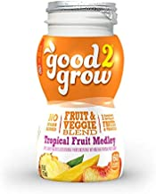 good2grow Tropical Fruit Medley Juice Refill, 24-pack of 6-Ounce BPA-Free Juice Bottles, Non-GMO with Full Serving of Fruits and Vegetables, for use with our Spill-Proof Toppers