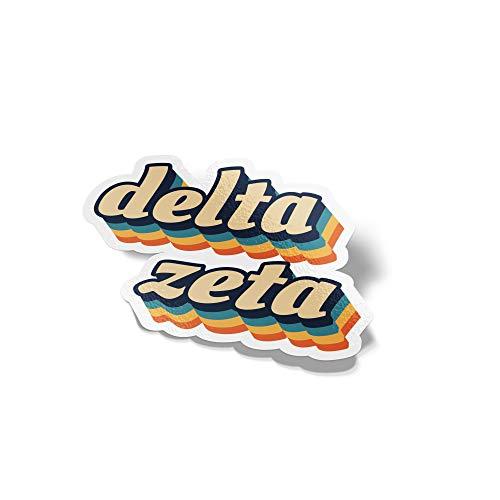 Delta Zeta 70s Letter Sticker Decal Greek Tall for Window Laptop Computer Car dz