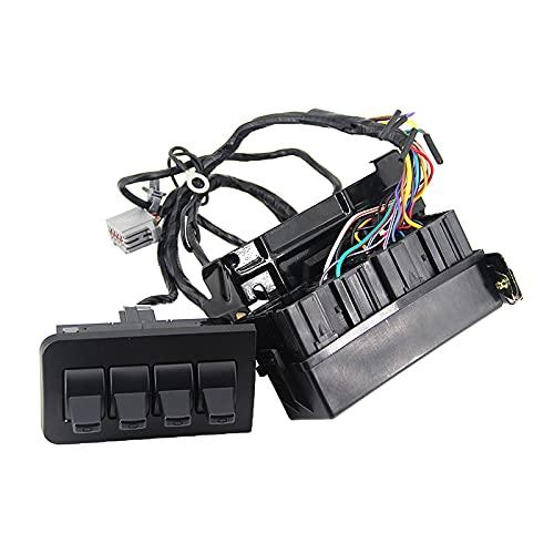 H HILABEE Nuevo interruptor auxiliar Dash Upfitter AL3Z13D730AA BC3Z14A303B para Ford F-250 F-350 F-450 F-550, fácil de instalar sin instrucciones.