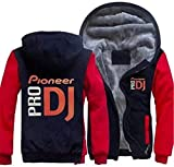 Sudadera unisex, Chaqueta con capucha - Pioneer Pro DJ Imprimir resorte ocasional de los hombres de cremallera con capucha suéter de costura béisbol manga larga capa uniforme - adolescente regalo A-M