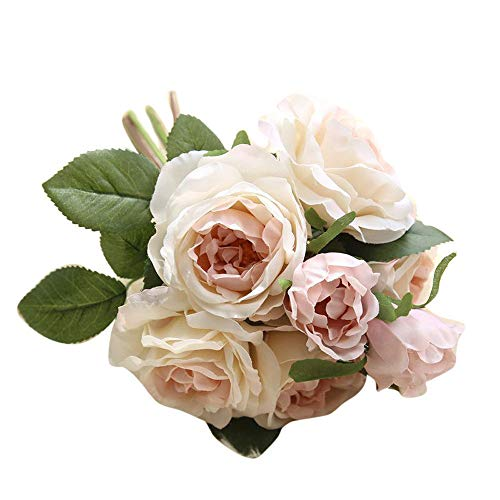 Ramo de Flores de peonia Artificiales Vintage para decoración de hogar y Bodas Falsas Rosa Ramo Floral Boda Ramo decoración del hogar del Madre Regalo riou