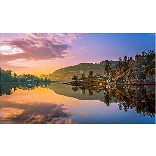 Lvabc Aangepaste Noorwegen Lake Mountains Landschap Natuur Fotobehang Behang Woonkamer Tv Bank Muur Slaapkamer Grote Muren -150X120Cm