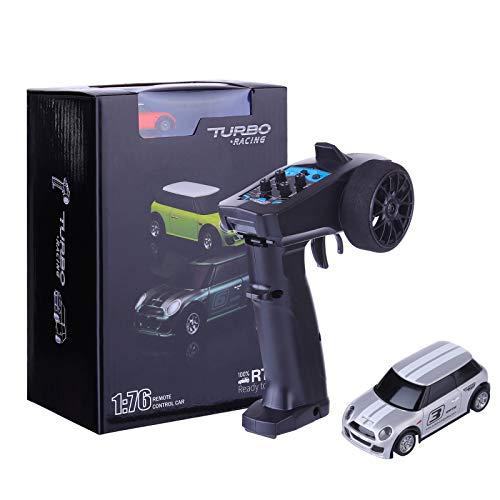Myste Mini coche teledirigido turbo 2,4 GHz 1:76 mando a distancia eléctrico...