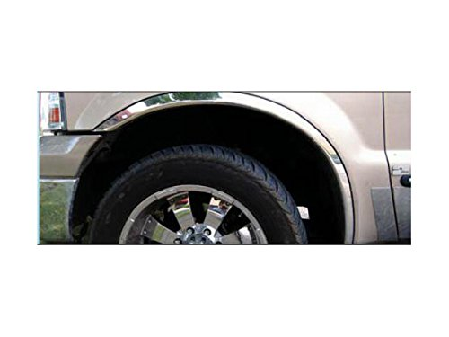 QAA fits 1999-2007 Ford F-250 & F-350 Super Duty 4 Piece Molded Stainless Steel Wheel Well Fender Trim Molding, 2.125