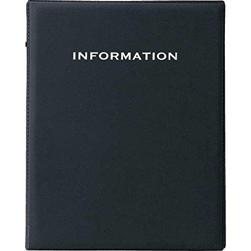 インフォメーション ビニールタッチ (A4 4穴) 【IF-181】ブラック (本体のみ) [えいむ ホテル インフォメーションブック リング バインダー]