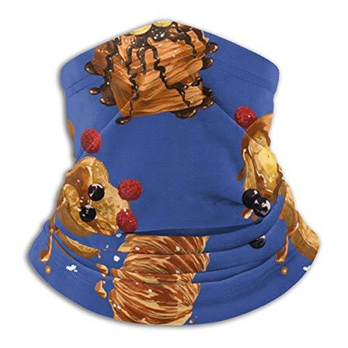 Archiba Fleece-Halswärmer-Gamasche, winddichter Warmer Gesichtsbedeckungn-Schal für Männer und Frauen, Erdnuss und Kekse