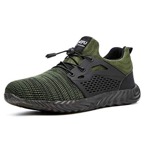 Ulogu Sicherheitsschuhe Herren Arbeitsschuhe Damen Leicht Atmungsaktiv Schutzschuhe Stahlkappe Sneaker