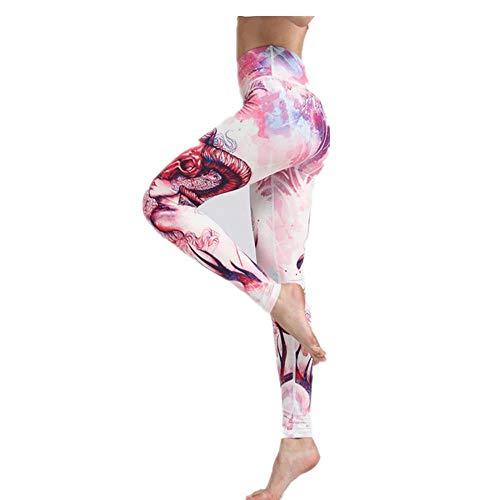 Zjcpow - Pantalones de yoga para mujer, cintura alta, pantalones de yoga, control de barriga, entrenamiento, correr, estiramiento de yoga, poliéster, Hk25, Small