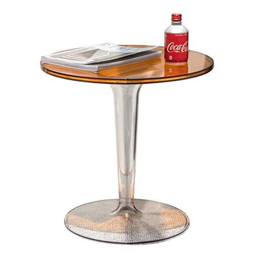 XHF Scrivania, Tavolino da Caffè, Piccolo Cerchio Trasparente Semplice Nordico, Tavolino in Acrilico, Tavolino da Caffè Mobile/Tavolino da Tè Pomeridiano,un
