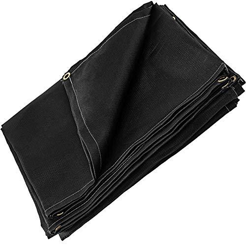 VEVOR 2 PCS 6 x 10 Ft Welding Blanket Black Fiberglass Blanket Portable Fiberglass Fire Retardant Blanket Welding Mat Welding Fireproof Thermal Resistant Insulation With Carry Bag