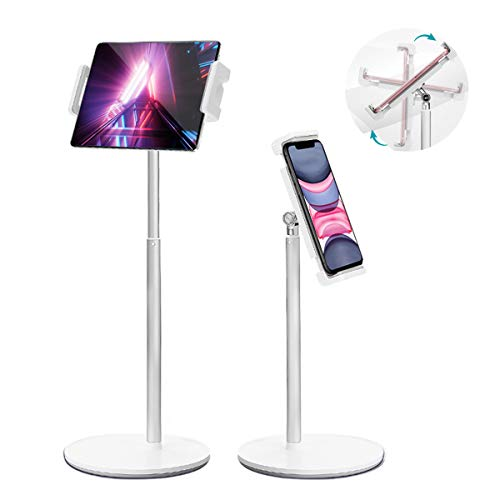 """Tablet Stand Holder, MECO Angle Height Adjustable Tablet Phone Stand for Desk with 360 Degree Rotating, Upgraded Stable iPad Holder Stand for iPad, iPhone, Switch, Kindle, eBook Reader (4.7-12.9"""")"""