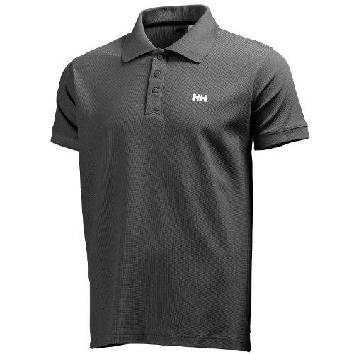 Helly Hansen New Driftline Polo - Polo para hombre, color negro oscuro (ebony), talla S