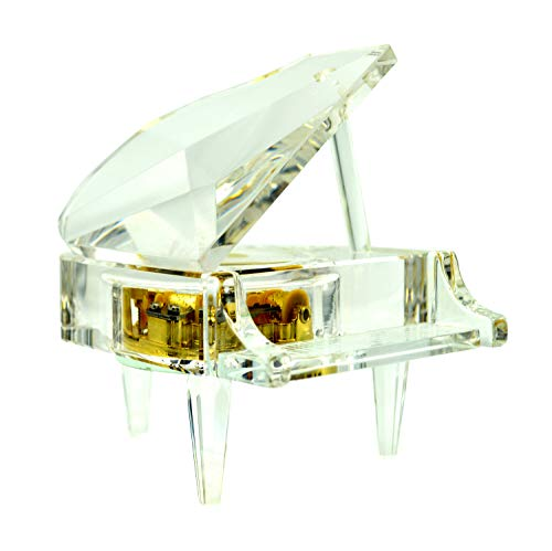 Piano Music Box Crystal Song Canon, Clockwork Mechanical Piano Ornament Classical Sweet Gift (Canon)