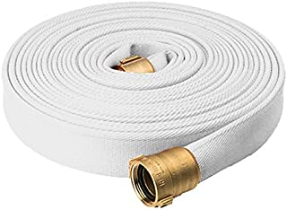 North American Fire Hose PR15X100PPRN Corporation Rack and Reel Fire Hose, White, 1-1/2