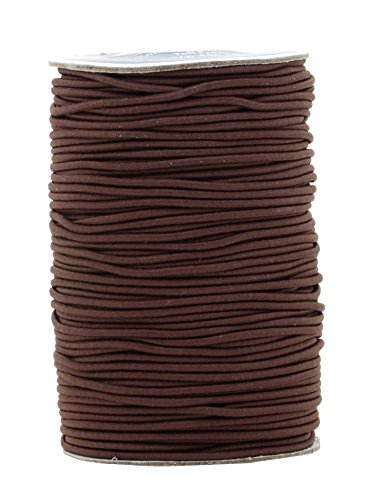 Mandala Crafts Elastic Cord Stretchy String for Bracelets, Necklaces, Jewelry Making, Beading, Masks (Brown, 2mm 76 Yards)