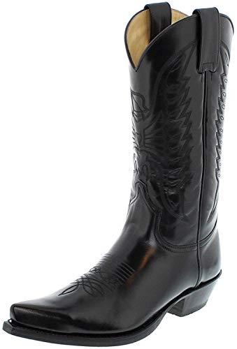 Sendra Boots 2073 Florentic Negro Westernstiefel für Damen und Herren Schwarz, Groesse:42
