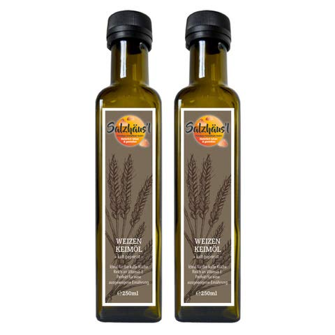 Weizenkeimöl Salzhäusl (vormals Biomond) / 2 x 250 ml Vorteilspack / Testsieger / hochwertiges...