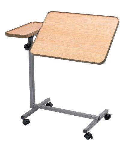 Dual Action-Bett und Stuhl, Tisch, bewegliche über Bett Tisch, Höhenverstellbarer Rolltisch mit schwenkbarer Oberfläche, laminiert Top abwischbar, Lesen, Essen, Ältere, Behinderte, Behinderte