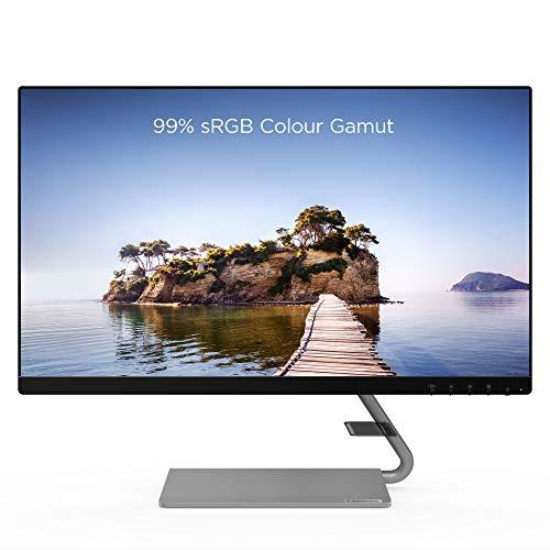 Lenovo Q24i-10 23.8 Inch FHD Monitor (IPS Panel, 75 Hz, 4 ms, HMDI, VGA) – Tilt Screen, Black