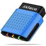 akface Escáner OBD2 Bluetooth 4.0, Inalámbrico Lector de Código OBD II Coche Diagnóstico...