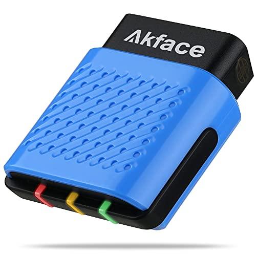 akface OBD2 escáner Bluetooth 4.0, lector de código OBD II inalámbrico para iOS, Android y Windows, herramienta de escaneo de diagnóstico comprobación de luz del motor