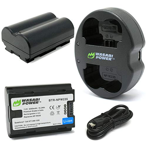 Wasabi Power Battery (2-Pack) and Dual Charger for Fujifilm NP-W235 and Fuji X-T4